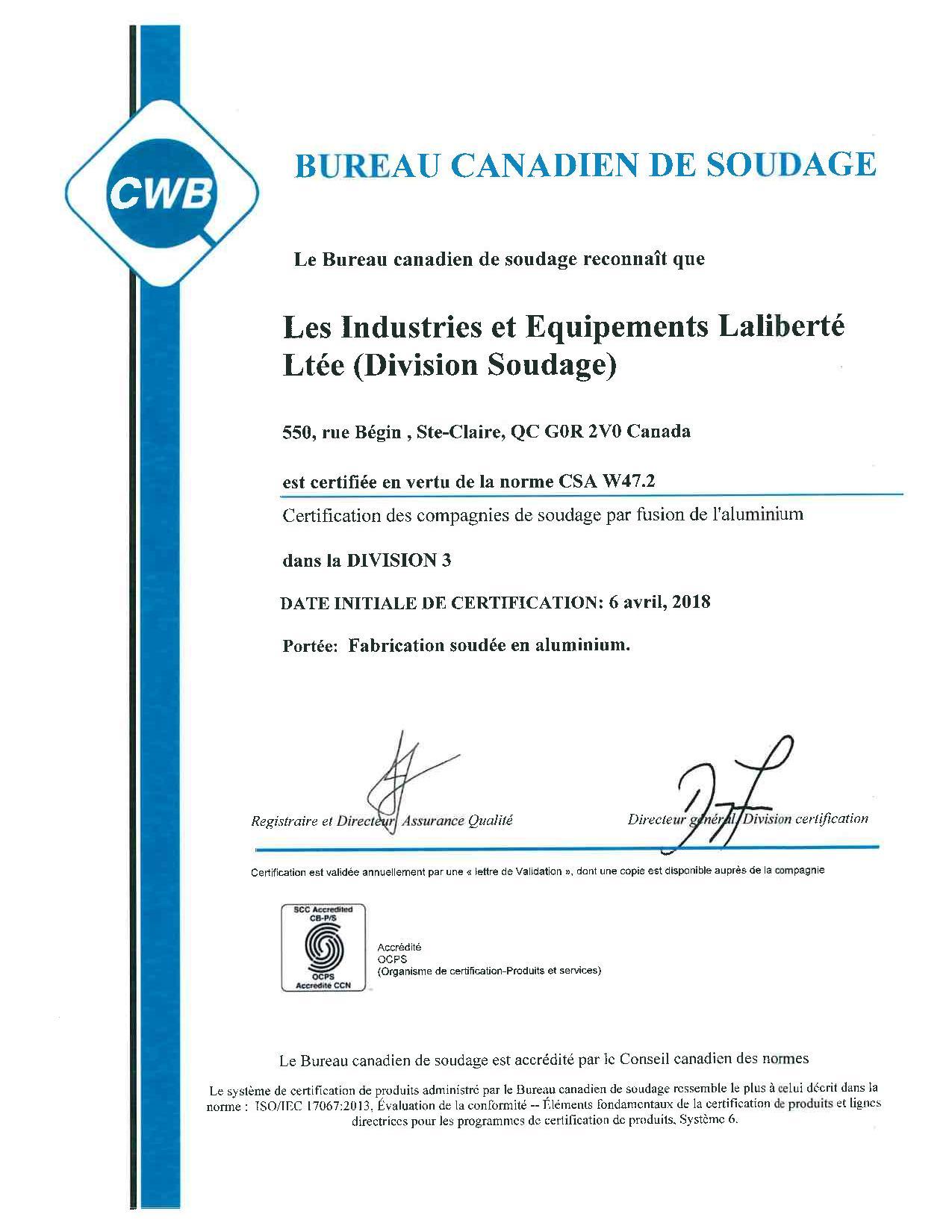 Politique Accrditations Et Certifications Iel